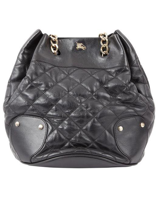 ac3ad3534b4 Burberry - Black Leather Bag - Lyst ...