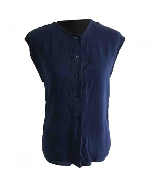 Chanel - Blue Silk Blouse - Lyst