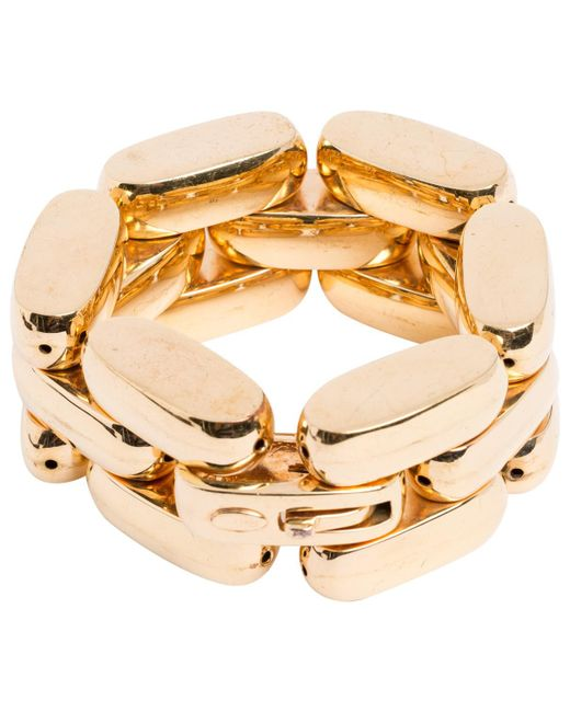 Roberto Cavalli - Metallic Pre-owned Gold Metal Bracelet - Lyst