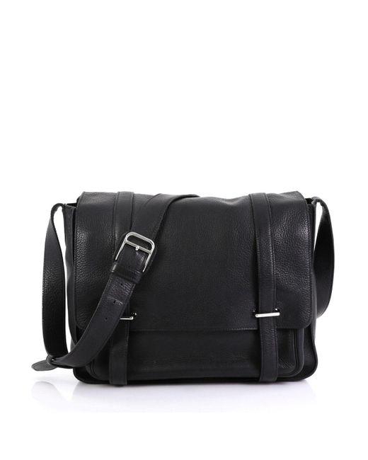 Hermès Steve Black Leather Bag for men
