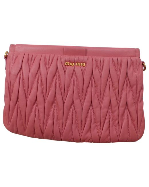 Miu Miu | Pink Pre-owned Shoulder Bag | Lyst