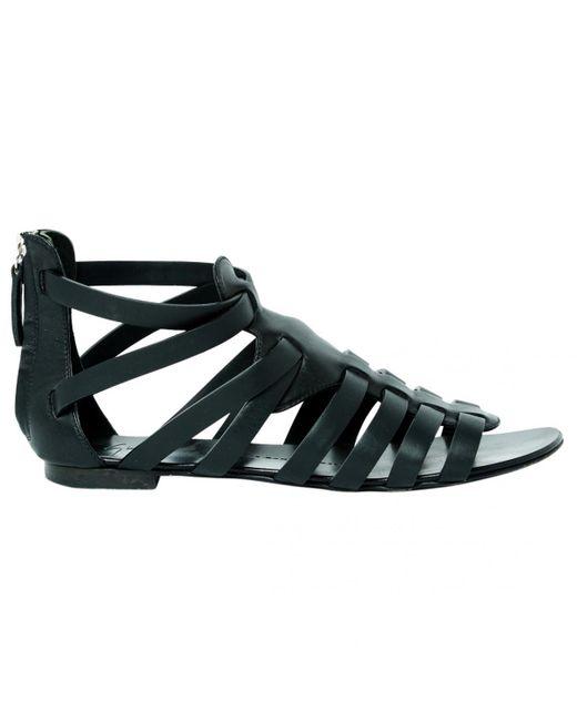 Giuseppe Zanotti - Black Leather Sandals - Lyst
