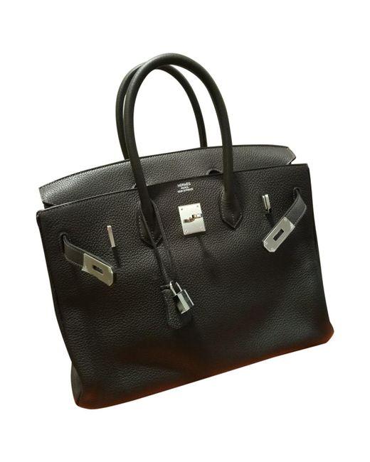 Hermès - Brown Birkin 35 Leather Handbag - Lyst