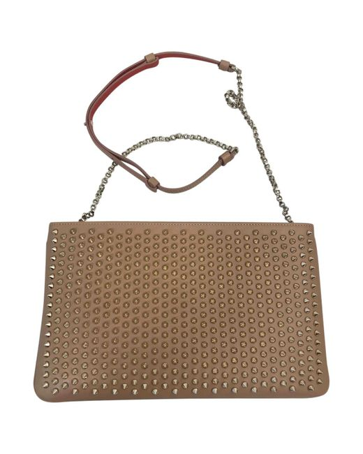 Christian Louboutin | Natural Pre-owned Leather Crossbody Bag | Lyst
