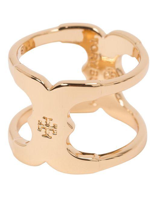 Tory Burch - Metallic Gold Metal Ring - Lyst