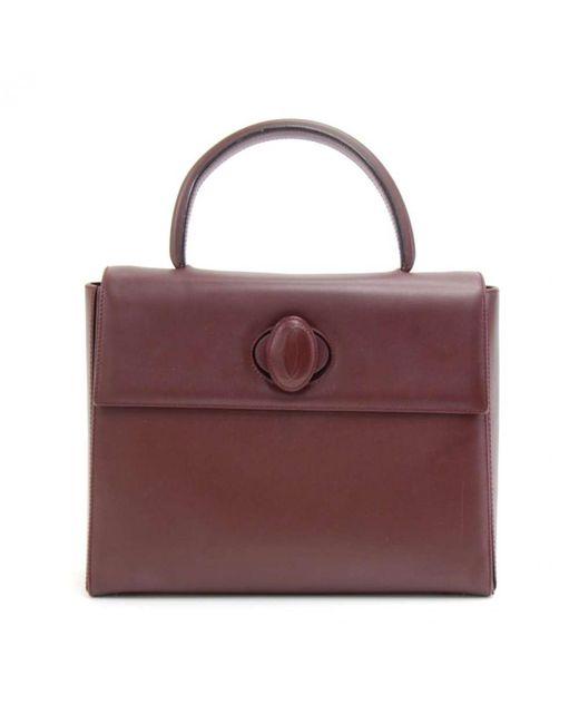 3c4b57d164 Lyst - Sac à main en cuir Cartier en coloris Violet