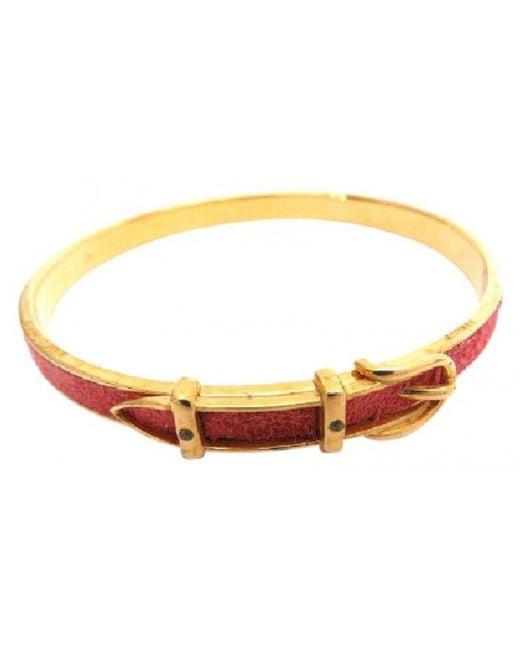 Hermès | Pre-owned Red Metal Bracelet | Lyst