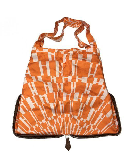 Hermès - Orange Pre-owned Silky Pop Leather Handbag - Lyst