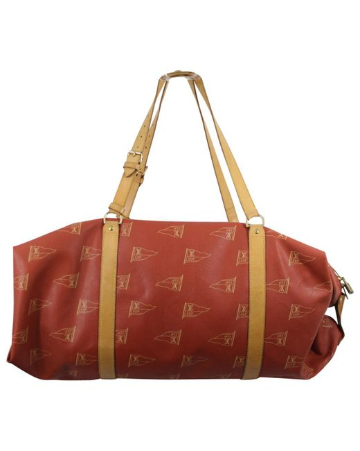 Louis Vuitton Cloth Travel Bag in Red for Men - Save ... e63d7f586b0a6