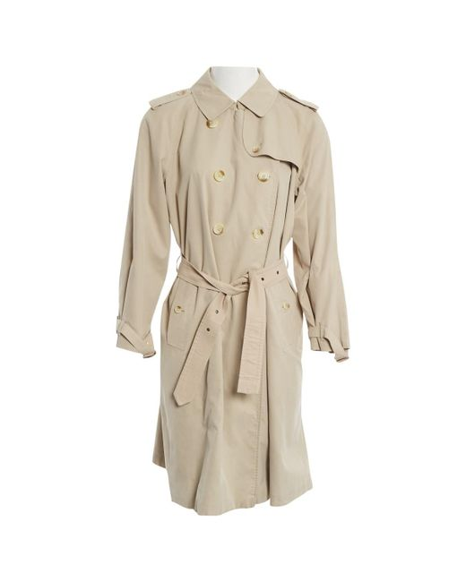 b03d9d3a6508 Burberry - Natural Pre-owned Trench Coat - Lyst ...