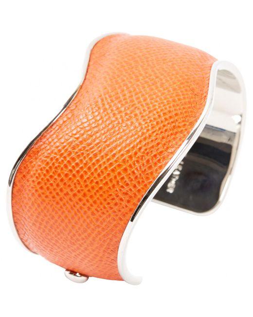 Tod's - Orange Pre-owned Leather Bracelet - Lyst