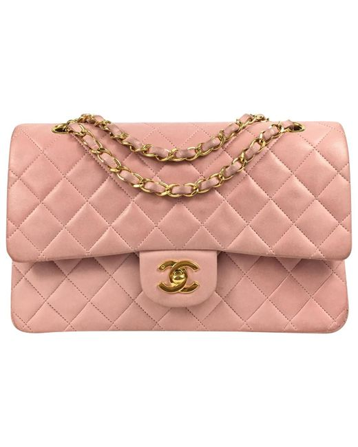 Chanel | Pink Pre-owned Quilted Leather Shoulder Bag  | Lyst