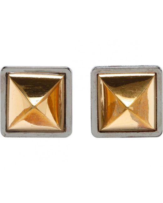 Hermès - Metallic Pre-owned Gold Metal Earrings Medor - Lyst