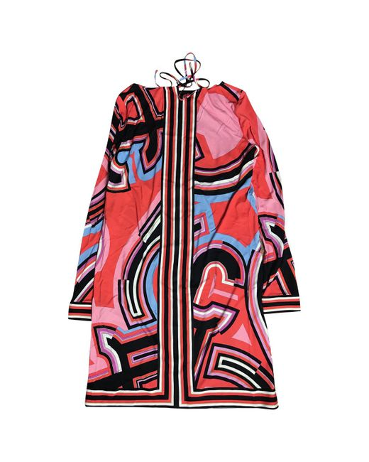 Emilio Pucci - Red Other Viscose Dress - Lyst
