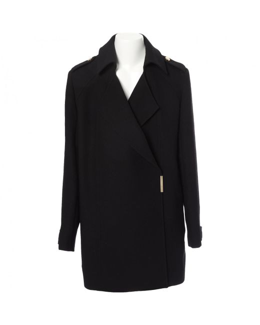 Victoria Beckham - Black Wool Coat - Lyst