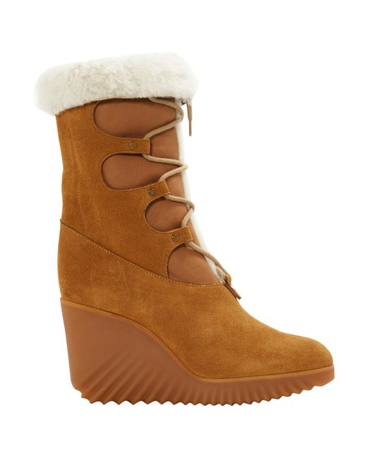 Chloé - Brown Pre-owned Leather Snow Boots - Lyst