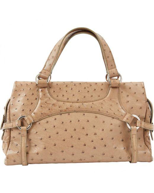 Lancel - Natural Beige Leather Handbag - Lyst