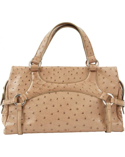 Lancel - Natural Pre-owned Leather Bag - Lyst