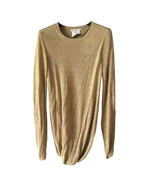 Michael Kors Metallic Gold Viscose Knitwear