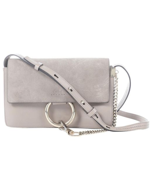 Chloé - Natural Faye Leather Clutch Bag - Lyst