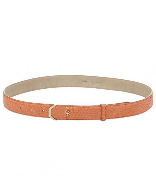 Chloé - Orange Exotic Leathers Belt - Lyst