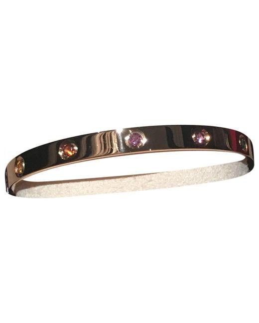 Cartier - Metallic Love Pink Gold Bracelet - Lyst