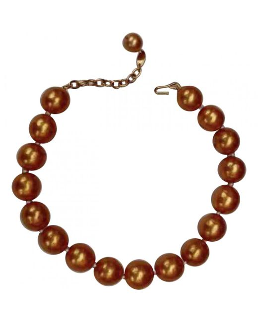Chanel - Orange Pre-owned Necklace - Lyst