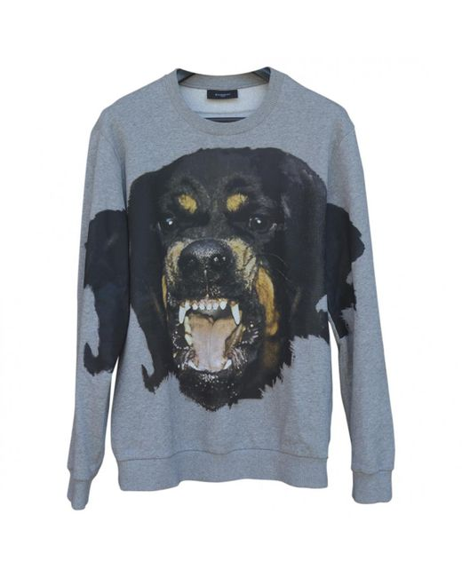 Givenchy - Gray Grey Cotton Knitwear & Sweatshirt for Men - Lyst