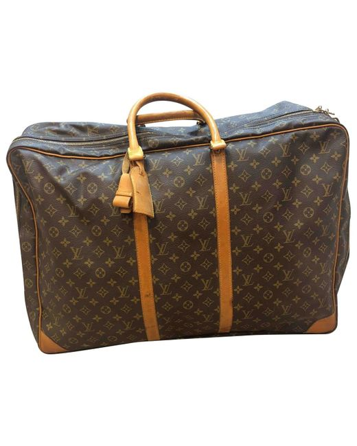 Louis Vuitton - Pre-owned Brown Cloth Bags for Men - Lyst