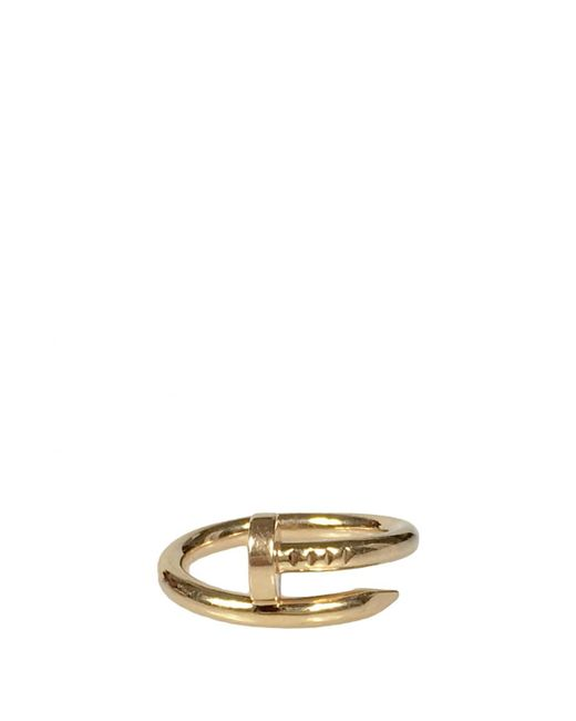 Cartier - Metallic Pre-owned Juste Un Clou Pink Gold Ring - Lyst
