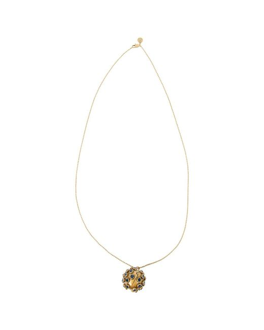 Tory Burch - Metallic Gold Metal Necklace - Lyst