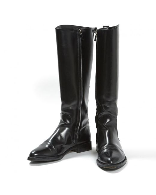 657f4b844575 ... Louis Vuitton - Black Leather Riding Boots - Lyst ...