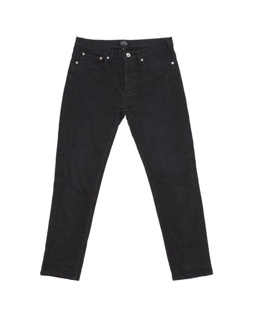 A.P.C. - Black Slim Jeans - Lyst