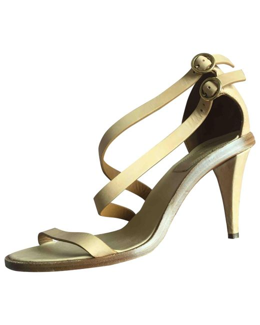 Chloé - Natural Leather Sandals - Lyst