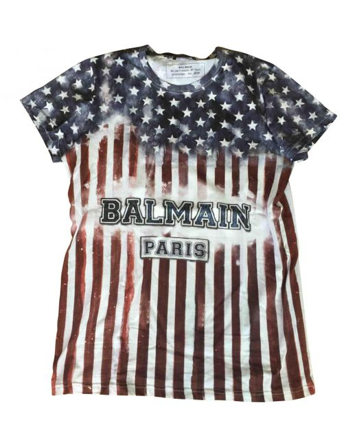 Balmain - Multicolor Printed T-shirt for Men - Lyst