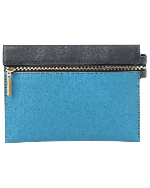 Petite maroquinerie en Cuir Bleu Victoria Beckham pour homme en coloris Blue