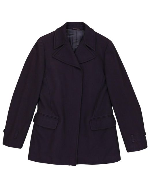 Helmut Lang - Blue Wool Coat - Lyst
