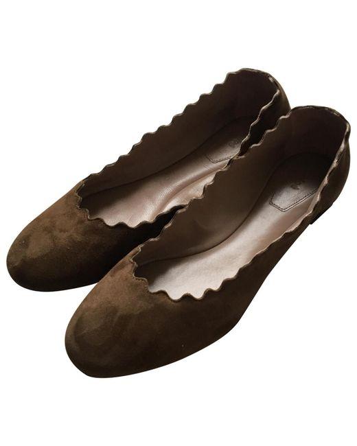 Chloé - Brown Ballet Flats - Lyst