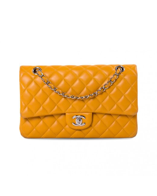 52acd39130b2 Chanel Timeless/classique Yellow Leather Handbag in Yellow - Lyst