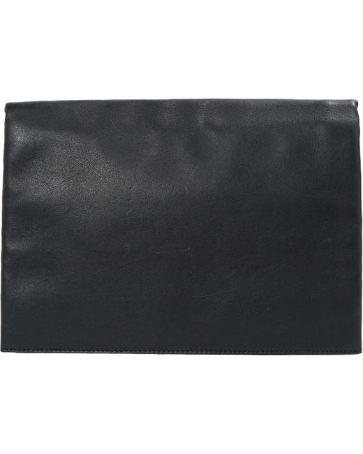 Lyst - Céline Pre-owned Black Leather Clutch Bags in Black 1818a77aba338