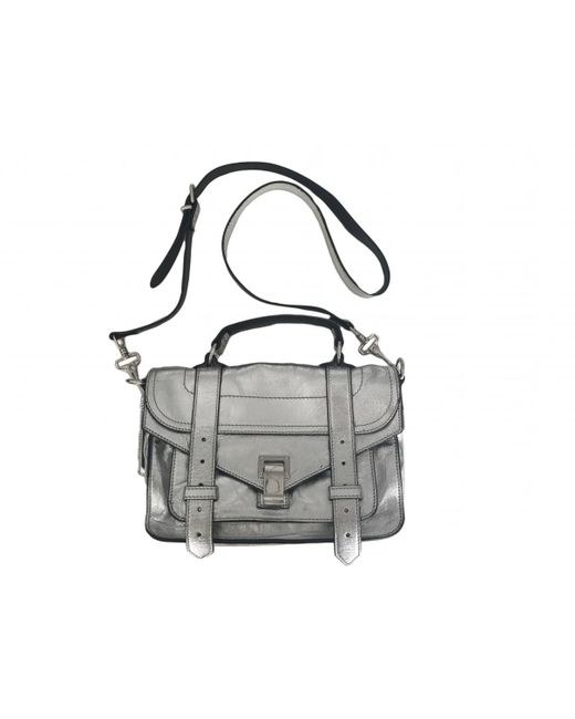Proenza Schouler - Metallic Pre-owned Ps1 Tiny Leather Crossbody Bag - Lyst