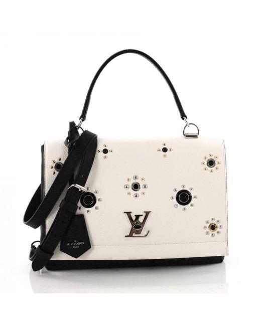 Louis Vuitton - White Lockme Leather Handbag - Lyst