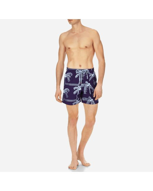 Vilebrequin - Blue Men Swimwear Embroidered Palmiers - Limited Edition for Men - Lyst