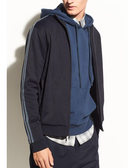 Vince - Blue Track Jacket for Men - Lyst