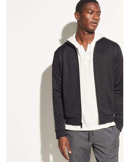 Vince | Black Track Jacket for Men | Lyst