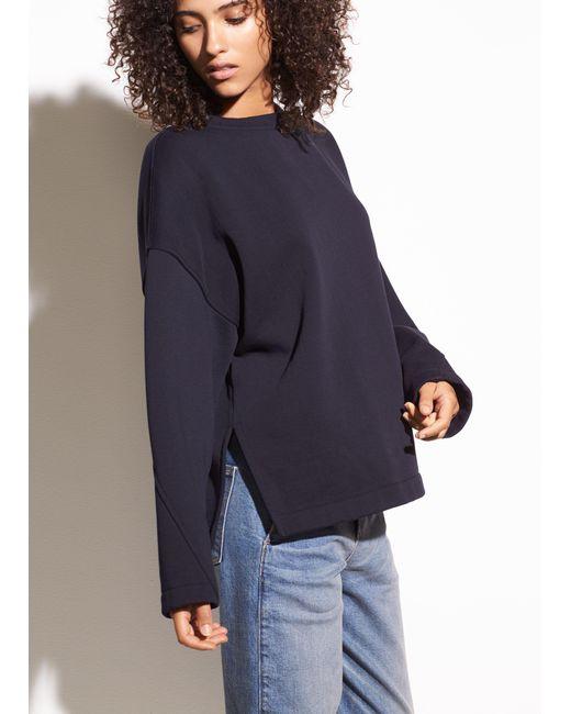 Vince | Blue Pullover Cotton Sweatshirt | Lyst