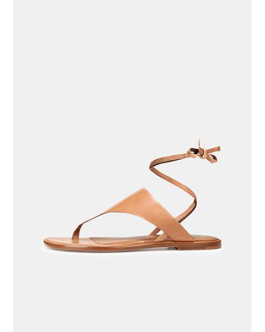 db87a6f5d6e Vince - Brown Eastwood Leather Sandals - Lyst ...