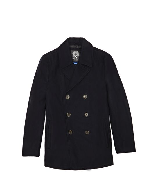 Vince Camuto - Blue Double Breasted Pea Coat - Lyst
