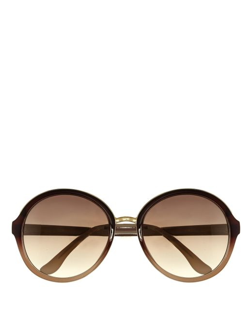 Vince Camuto   Brown Oversize Round Sunglasses   Lyst