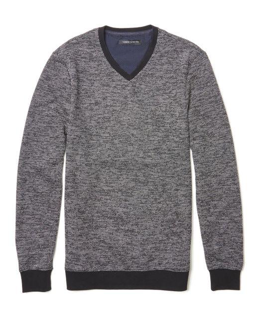 Vince Camuto - Black Marled V-neck Sweater for Men - Lyst